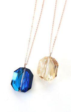 Swarovski Bermuda Blue Crystal Rose Gold Filled