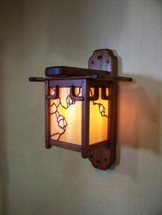 Arts & Crafts, Greene and Greene Style Wall Sconce