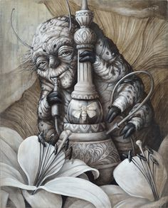 Sophie Wilkins | OIL | Alice in Wonderland | The Caterpillar