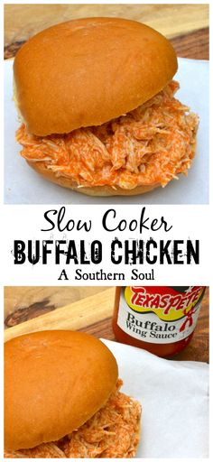 Buffalo Chicken Recipe from the Slow Cooker ~ feed a crowd for game day or an easy weeknight meal!