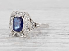 This is the ring I want. I see myself & kyle in this ring. So many beautiful rings!!--1.10 Carat Art Deco Sapphire Ring