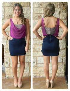 Purple Navy Dress $49