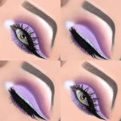 makeup history makeup use revolution eyeshadow palette mini makeup tutorial mac do you blend eyeshadow makeup makeup everyday makeup course makeup quotes Purple Makeup Looks, Purple Eye Makeup, Makeup Eye Looks, Beautiful Eye Makeup, Colorful Eye Makeup, Skin Makeup, Eyeshadow Makeup, Eyeliner, Easy Eyeshadow