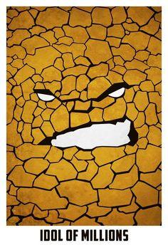 Posters Minimalistas De Superhéroes  cómics geek  original