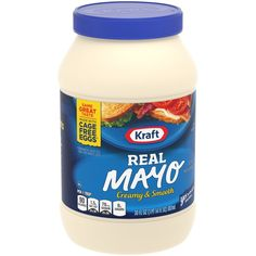 Creamy & delicious mayo with no artificial flavors Made with cage free whole eggs (at least cage free whole eggs) Comes in a convenient resealable j Pimento Cheese, Cheddar Cheese, Old Fashioned Recipes, Mayonnaise, Summer Recipes, Nutrition, Jar, Potato Salad, Daily Deals