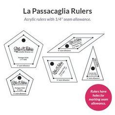 "La Passacaglia Rulers w/1/4"" Seam Allowance"