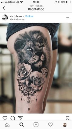 15 Most Amazing Tiger Tattoos For Women When a tiger is tattooed on a women's body, it looks really impressive especially in the thigh, hip, and forearm. Below are 15 amazing tiger tattoos designs. Tattoo L, Rosa Tattoo, Paar Tattoo, Leo Tattoos, Subtle Tattoos, Tiger Tattoo, Trendy Tattoos, Popular Tattoos, Forearm Tattoos