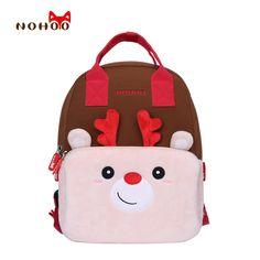 NOHOO Kids Children Backpack Kindergarten Pretty Cartoon Toddler Baby School Bags Gift for Girls School Bags for 3-6 Years Old