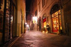 Lucca, Italy - at night