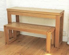 Oak Console Table - extends to dining table | Futon Company