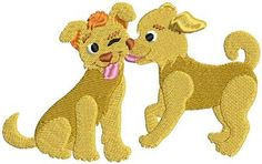 This free embroidery design is called dogs.