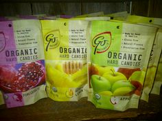 Go Naturally..Hard Candies use natural and organic cane sugar..no artificial colours or flavours! Treat yourself right!