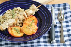 The BEST summer grill recipe: Grilled Chicken Kebobs & Peaches