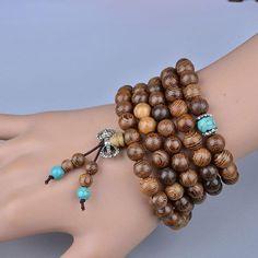 Wenge Prayer Beads 108 Buddha Bracelets 8mm~ॐ