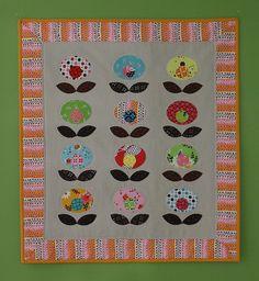 Pop Flower Quilt, via Flickr.
