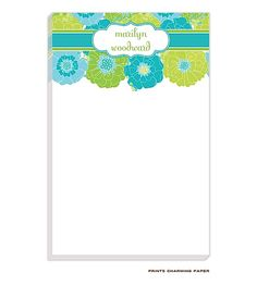 Personalized Floral Notepad | #HolidayGiftIdeas #ChristmasGiftIdeas