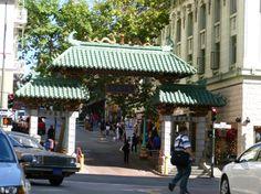 Entrance to China Town at Grant Avenue and Bush Street, San Francisco.