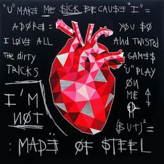 """Merci au magazine Australien About Blank pour son article sur mes dernières oeuvres ! """"The Art of the Heart"""". Tout est dit  The Art of The Heart"""
