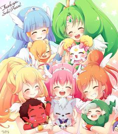 Glitter Force!!!!!! Kawaii!!!!