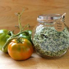 Preserve your bumper crop of fresh basil by making basil salt seasoning. Enjoy it year round or make it pretty and share as a gift.