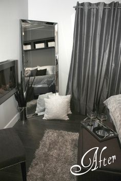 hotel chic look in grey for a bedroom