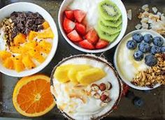 Image result for fresh breakfast with fruit