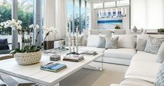 Hamptons Style: 7 Useful Tips How to Create the Relaxing Atmosphere on the Coast – a free tutorial on the topic: Interior Trim ✓Step-by-step ✓With photos ✓Materials: Blue And White Living Room, House, Building A House, Trendy Living Rooms, Coastal Living Rooms, Container House, Living Room Decor Modern, Building A Tiny House, Building A Container Home