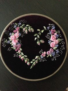 Embroidery Stitches Border above Silk Ribbon Embroidery Rose Stitches their Embroidery Floss Doll Hair, Embroidery Thread Lincraft few Silk Ribbon Embroidery Flowers Kit Embroidery Hearts, Learn Embroidery, Silk Ribbon Embroidery, Crewel Embroidery, Hand Embroidery Designs, Embroidered Silk, Embroidery Patterns, Embroidery Thread, Embroidery Supplies
