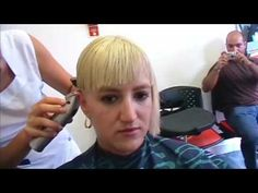 Assymetric bowl haircut in an extreme hair change made in a barbershop