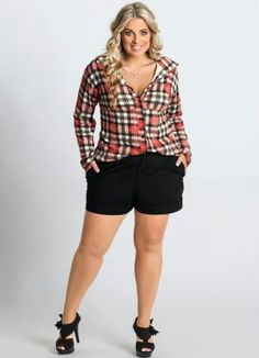 Camisa Xadrez Plus Size - Marguerite
