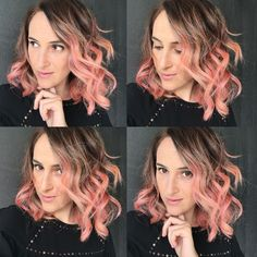 My new hair color : rose gold hair-  pink hair made by Roberto Maselli Compagnia della Bellezza  INSTAGRAM-> @theredmoustaches  www.theredmoustaches.com