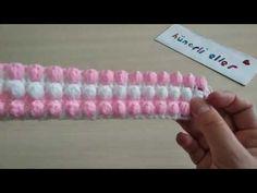 Sıralı 3D Gonca Güller Örgü Modeli Yapılışı - YouTube