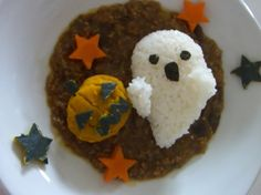 How to make the lunch plate for Halloween