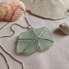 KBB Crafts & Stitches: Crocheted Sea Glass Pendant
