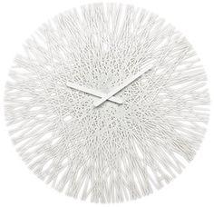Horloge murale fils de plastique D.45 cm SILK Blanc