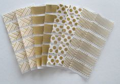 Gold Washi Stickers for Erin Condren Life Planner, gold stripes, gold spots, solid gold, gold polka dots, gold pattern