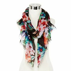Floral Print Woven Wrap - jcpenney