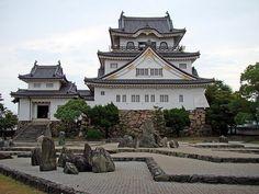 Kishiwada Castle and Rock Garden in Japan
