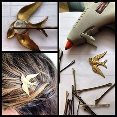 Turn any charms you have lying around into statement hair pieces. | 31 Impossibly Pretty DIY Hair Accessories