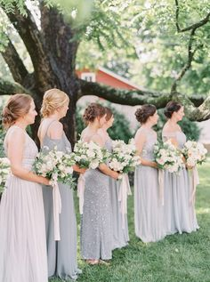 Family-Centered Fren Family-Centered French Blue Virginia Wedding at The Granary Wedding Venues In Virginia, Colorado Wedding Venues, Affordable Wedding Venues, Budget Wedding, Diy Wedding, Wedding Stuff, Dream Wedding, Bridesmaid Dress Styles, Brides And Bridesmaids