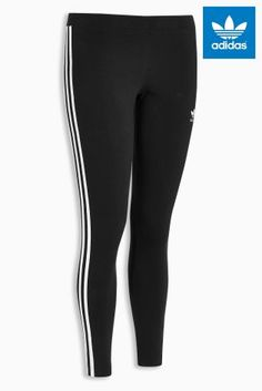 7aee1857d2dd5 adidas Originals 3 Stripe Black Legging Black Leggings, Women's Leggings, Adidas  Originals, Women's