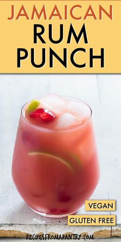 This delicious and colourful Jamaican Rum Punch is the perfect make-ahead drink needing only 5 ingredients! A great, easy and refreshing Jamaican Rum Punch Recipe for a crowd. This Caribbean Rum Punch cocktail is great to serve all year long. Punch Recipe For A Crowd, Food For A Crowd, Cocktail Recipes For A Crowd, Easy Punch Recipes, Alcoholic Punch Recipes, Alcohol Drink Recipes, Alcoholic Drinks, Beverages, Caribbean Rum