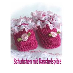 gratis beschrijving - Slofjes met knisperkantband - mode in wolle GmbH - AndreaKreativ