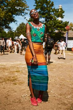 Dressed for soaking up every last ounce of summer sun. #refinery29 http://www.refinery29.com/2016/08/121572/afropunk-2016-street-style#slide-2