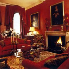 Red London Drawing Room Charming Tapestry Looking Chair In Envelope Of Grant