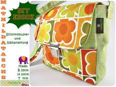 Mathilda-Tasche, Tasche, Ebook, Nähanleitung von Mummelito DIY auf DaWanda.com