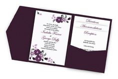 Pocketfold Floral wedding Invitation by MailMyHeart on Etsy, $5.15