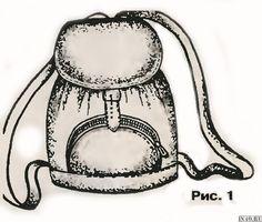Модный рюкзак из кожи своими руками. Простые выкройки для рюкзака | in4o.ru