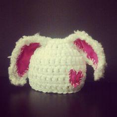 Newborn Floppy Bunny Hat  Made to Order  by AlishaMayCreations, $24.00