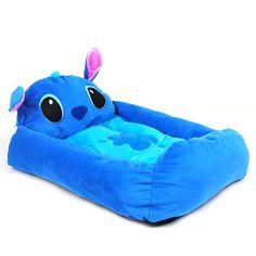 Pet Kingdom 23*17*7'' Lilo & Stitch Blue Small Dog House Pet Bed For Teddy Poodle Small Dog